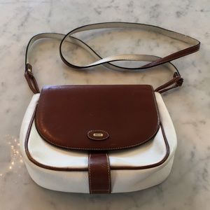 Bally vintage two-tone leather Crossbody bag purse